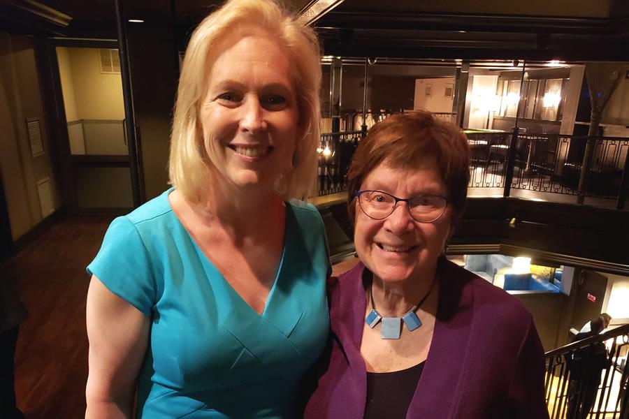 Barrie attending a fundraiser for Senator Kristen Gillibrand